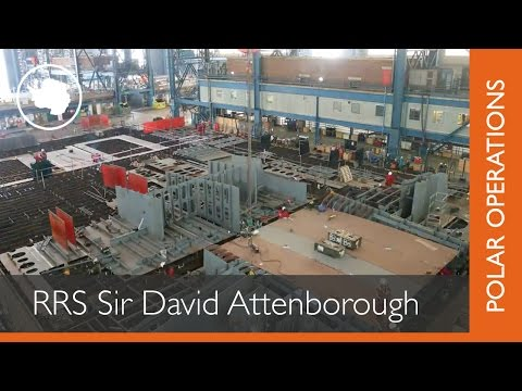 The Building of RRS Sir David Attenborough: Construction begins