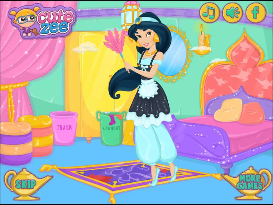 Princess Video Game - Jasmine Lamp Makeover - Cutezee.com ...  Princess Video ...