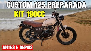 Intruder 125/190cc preparada Cafe Racer/Scrambler/Bobber/Brat Style