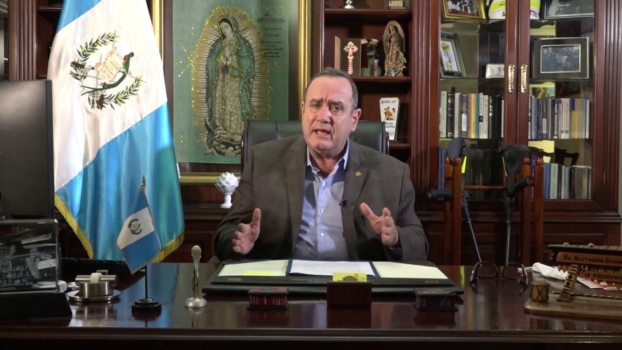 Mensaje del Presidente Alejandro Giammattei