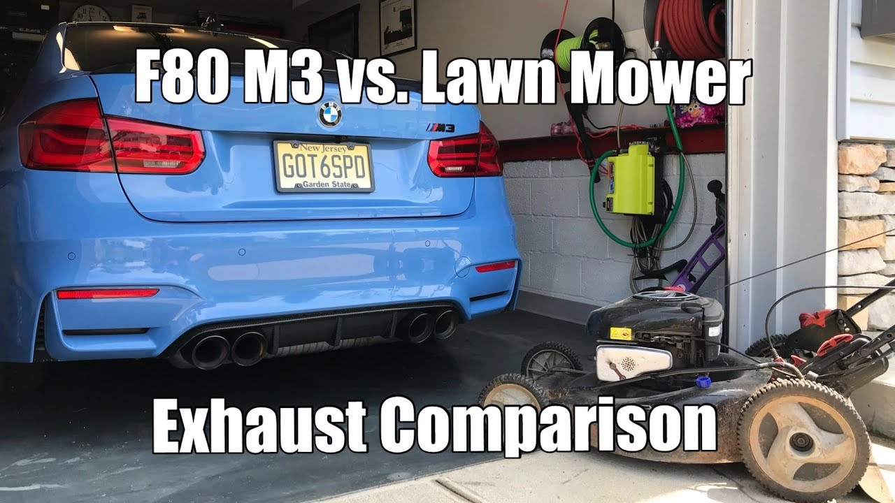 exhaust sounds like a lawn mower bmw