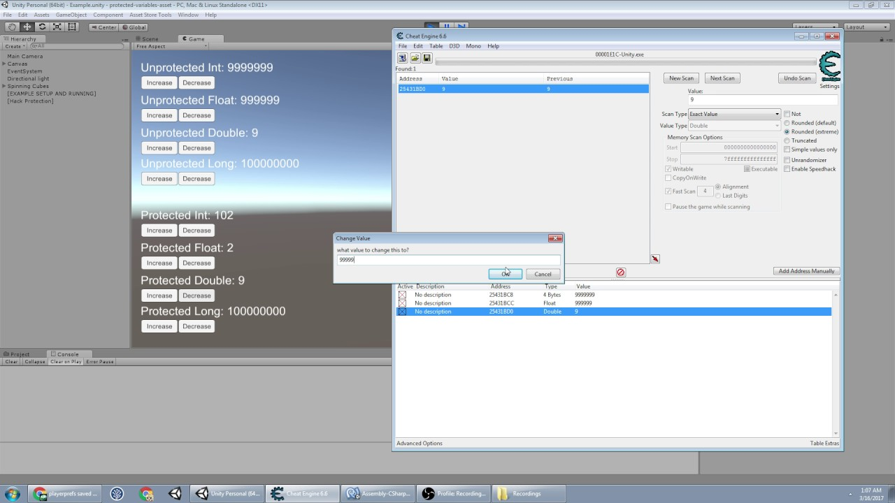 ProtectedVariables - Anti-Cheat Engine: How to cheat with Cheat Engine (and help prevent it)