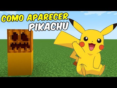 Como Aparecer a PIKACHU | Minecraft Pocket Edition