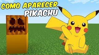 Como Aparecer a PIKACHU   Minecraft Pocket Edition