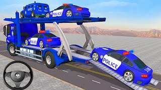 Transporting Truck Vehicles in Cargo Plane - Police Car Transporter Simulator - Android Gameplay HD