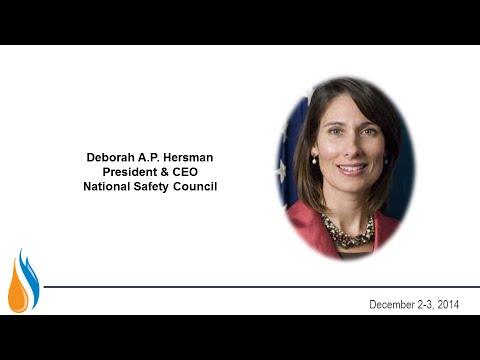 Deborah A.P. Hersman, President & CEO, National Safety Council