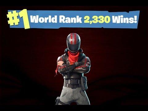#1 Fortnite World Rank - 2,330 Solo Wins!