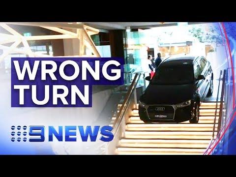 Bondi Uber driver mistakes staircase for driveway | Nine News Australia