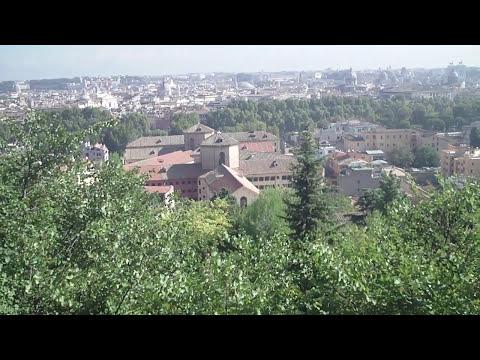 Panorama di roma visto dal gianicolo  ( na preghiera pe roma sparita lando fiorini )