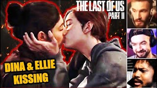 Gamers React To ELLIE & DINA KISSING || Last of Us 2 Reaction