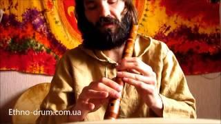 вИДЕО УРОК по игре на флейте Сякухати в Ре