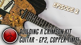 Building a Crimson Kit Guitar - 2/3, A Custom Scratchplate and a Hand Finished Neck