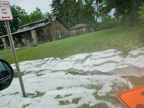 Is That Hail or Snow in Barneveld in JUNE