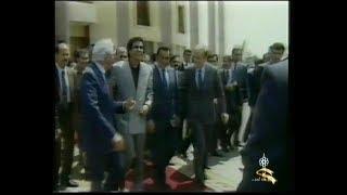 مشادات كلامية حـادة بين معمر القذافي وحسني مبارك علي خلفية أتخاذا قرار يدين القائد صدام حسين