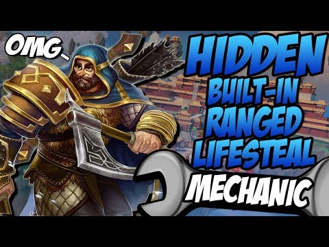 ULLR'S NEW HIDDEN BUILT-IN RANGED LIFESTEAL MECHANIC!!! - GrandMasters Ranked Duel - SMITE