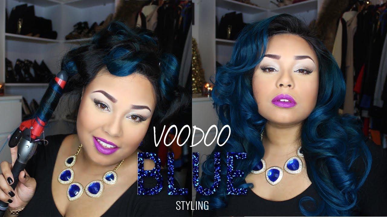 Voodoo Blue Big Blue Messy Curls Youtube