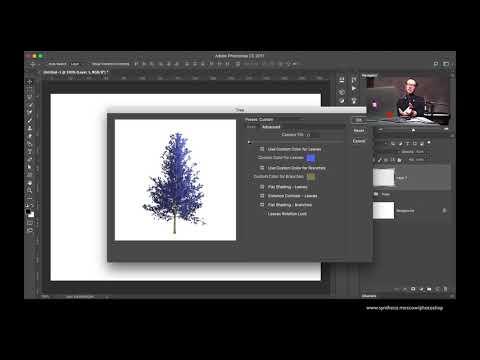 Генератор деревьев в Photoshop. Tree Generator In Photoshop.