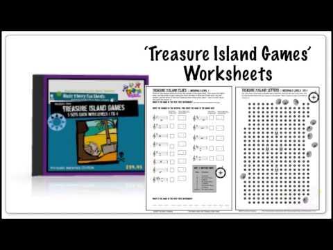 Worksheet for learning music intervals