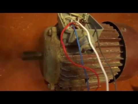 Как подключить двигатель на 380в к сети 220в. Схема. Очень просто.