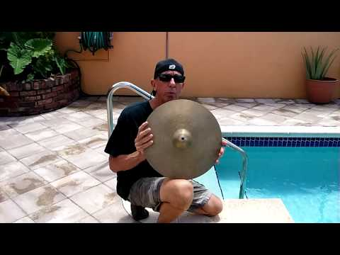 How to clean cymbals the easy way.