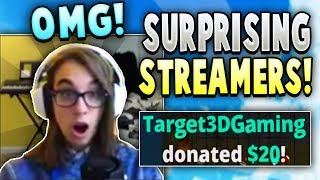 Surprising SMALL Hypixel Livestreamers with BIG Donations! (BEST Reactions!)