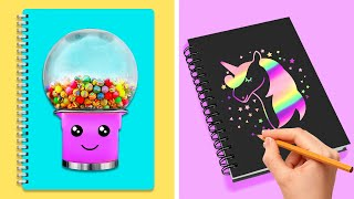 24 COLORFUL BACK TO SCHOOL CRAFTS AND LIFE HACKS