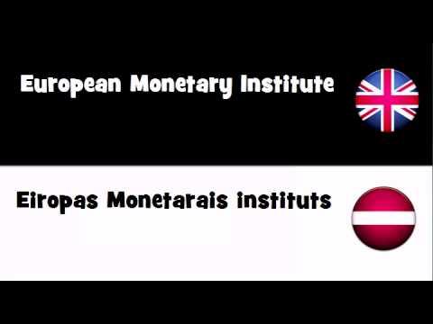 VOCABULARY IN 20 LANGUAGES = European Monetary Institute