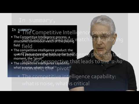 The Real Power of Competitive Intelligence Part 2 Methods and Skills