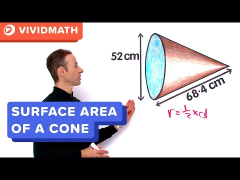 Surface Area Of A Cone - VividMaths.com thumbnail