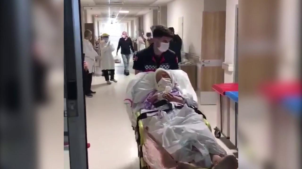 85 yaşında koronayı yendi