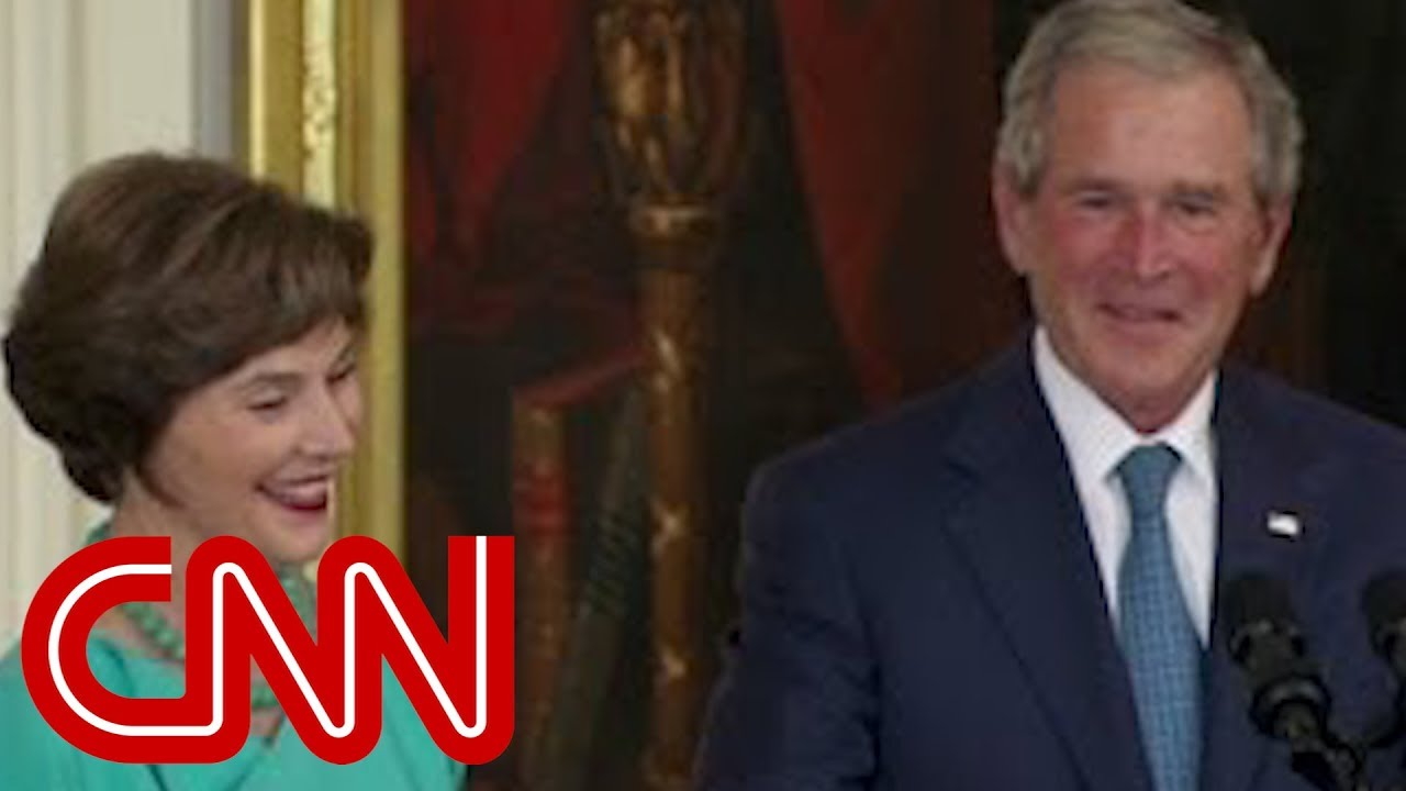 Bush's humorous return to White House