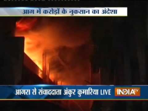 Shoe factory catches fire in Agra, assests worth crore destroyed
