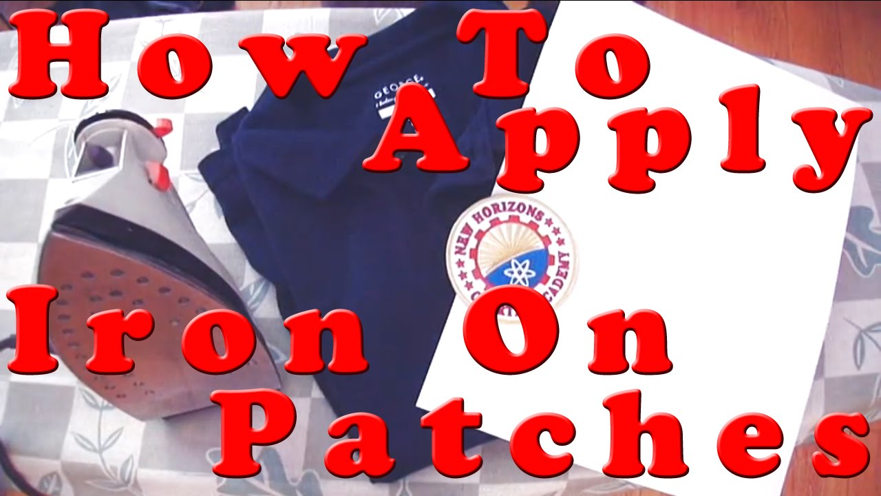 How To Apply Iron On Patches Youtube