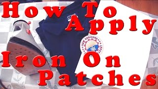 How To Apply Iron On Patches