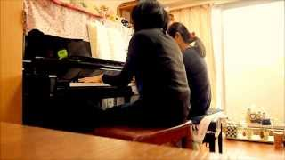 楽譜は「ピアノ連弾 カーペンターズ」シンコー・ミュージックを使いました...