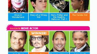 Kids Choice Awards 2011 Winners !! Selena Gomez , Icarly , Miley Cyrus etc