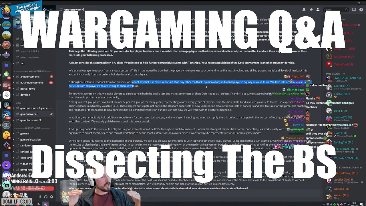 Dissecting The WG Q&A