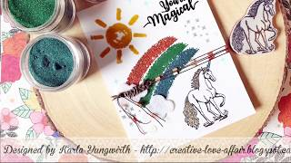 Emerald Creek Craft Supplies- Unicorn Card