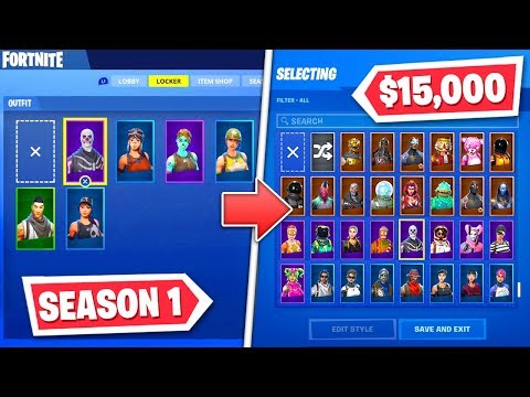 How I Went From $0 To $15,000 Worth Of Fortnite Skins!