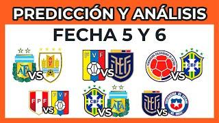 Predicción y Análisis Fecha 5 y 6 Eliminatorias Sudamericanas Qatar 2022   Tabla de Posiciones ⚽?