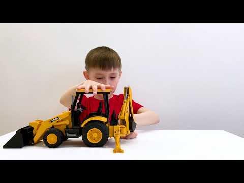 Bruder JCB экскаватор-погрузчик для детей. Рабочие машинки - Bruder Excavator JCB Midi CX М1:16