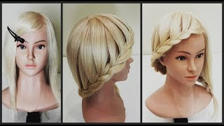 Коса водопад за 5 минут на средние волосы.Hairstyle of the waterfall in 5 minutes.On medium hair