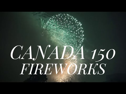 Canada day fireworks Ottawa 2017 Canada 150