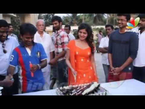Samantha Birthday Celebrations With Vijay On The Sets Of Kaththi | Hot Tamil Cinema News thumbnail
