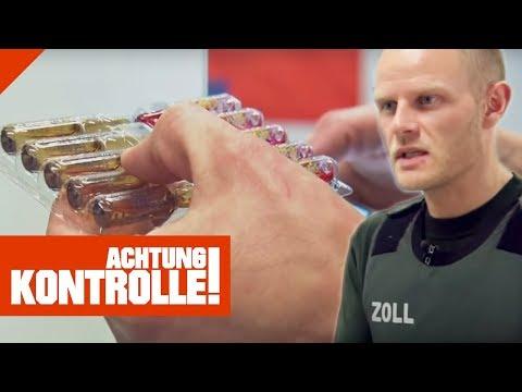 Verdächtige Ampullen im Zoll! Handelt es sich um Anabolika? | Achtung Kontrolle | Kabel Eins