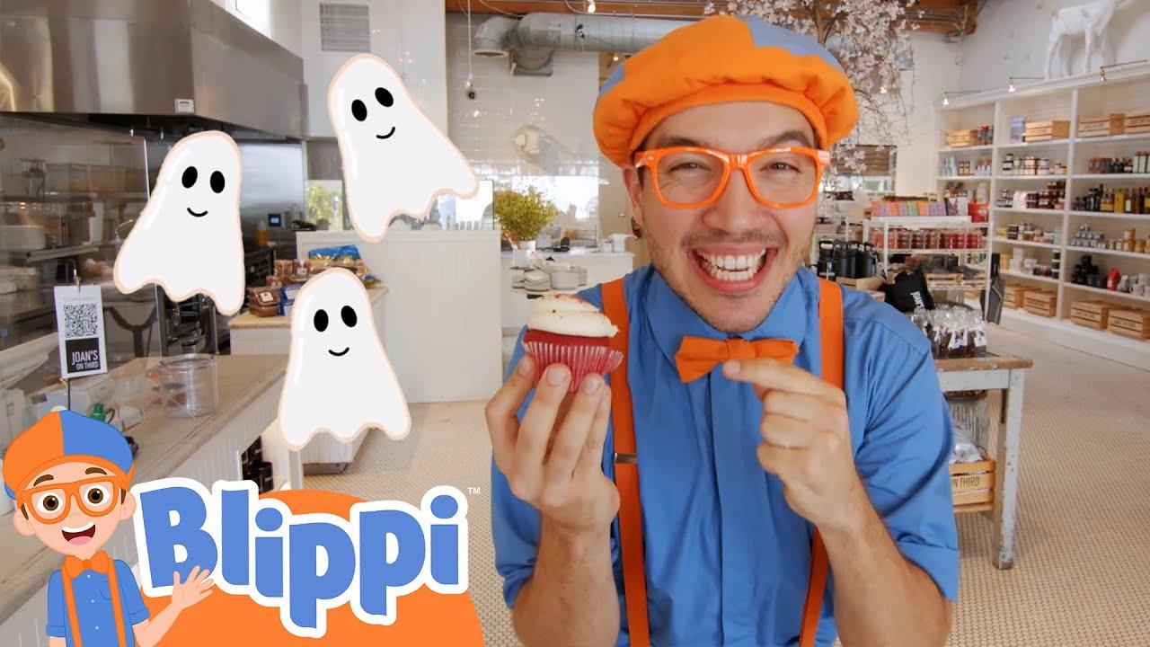 Blippi Decorates Spooky Halloween Treats!   Fun Halloween Videos For Kids