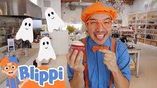 Blippi Decorates Spooky Halloween Treats! | Fun Halloween Videos For Kids