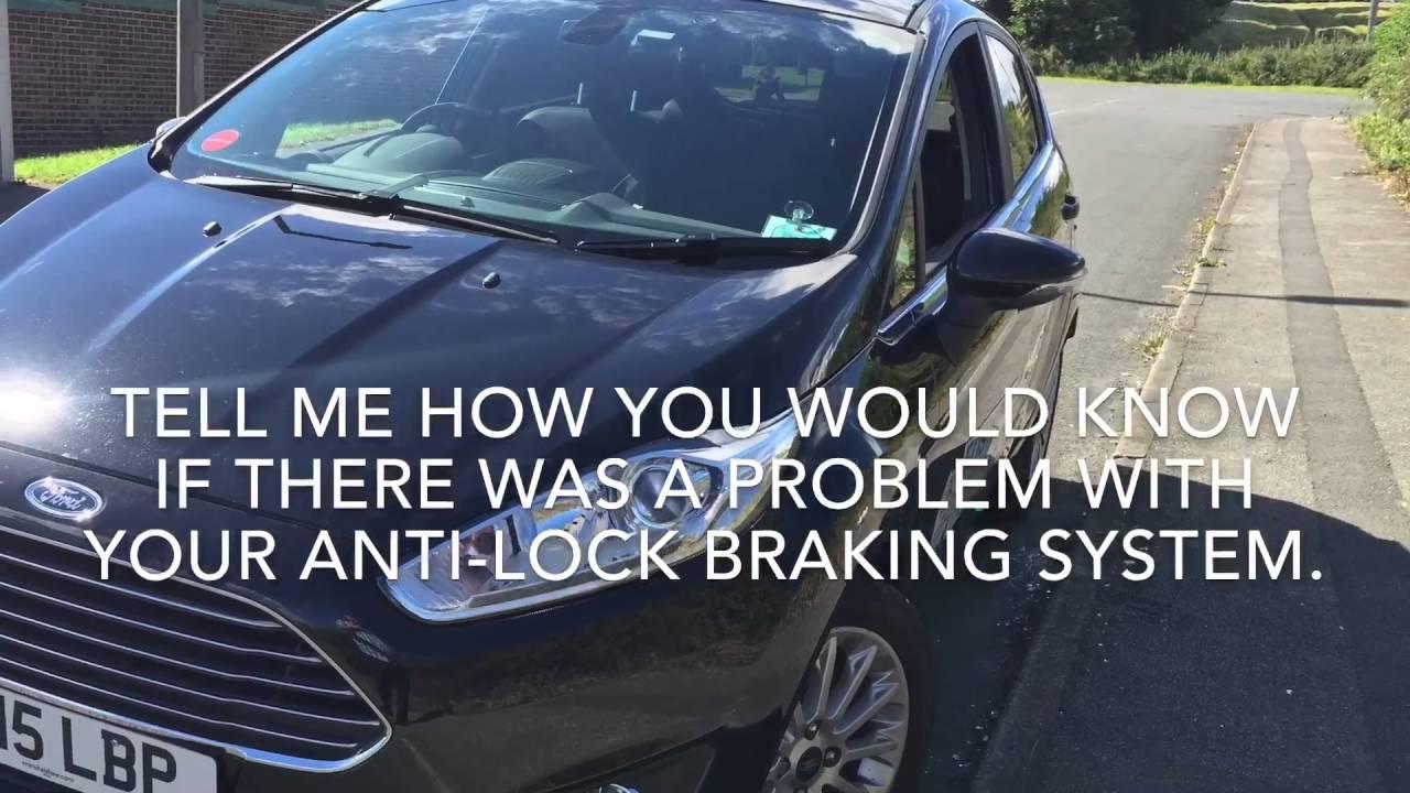 Show Me Tell Me Questions Ford Fiesta Titanium X Push Button Start