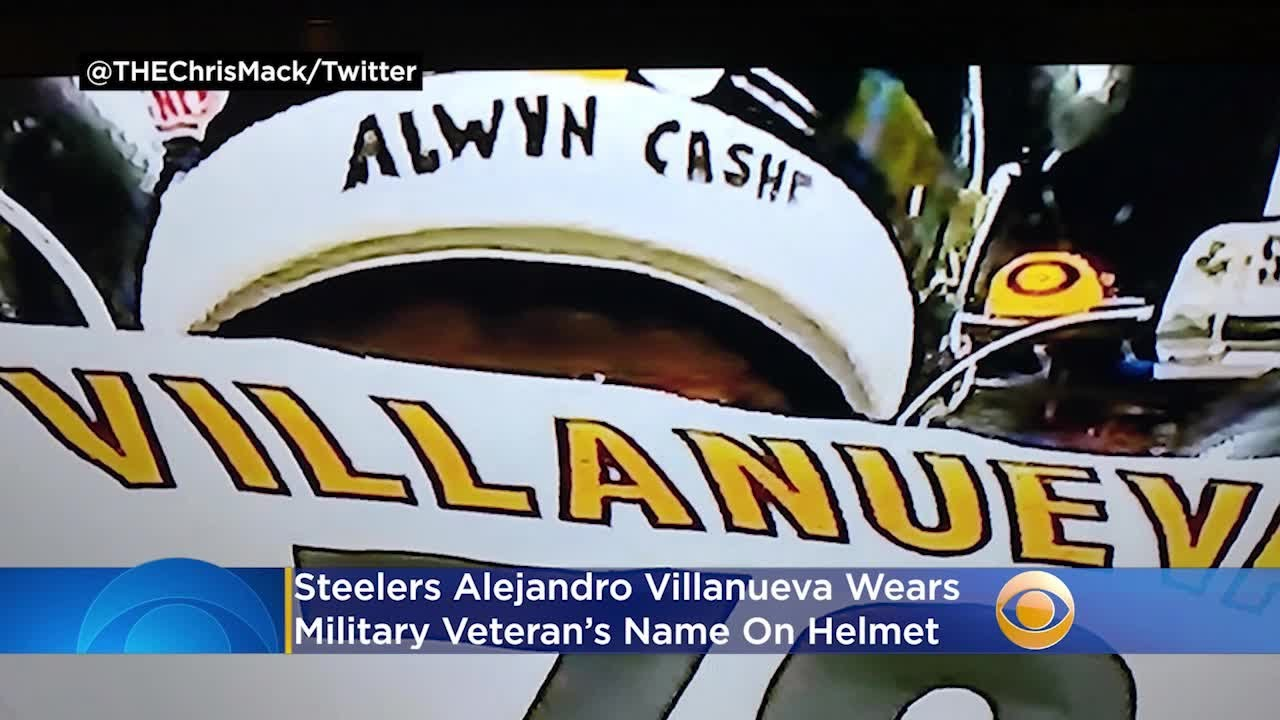 Steelers Alejandro Villanueva Wears Military Veteran's Name On Helmet, Covering Antwon Rose Jr.
