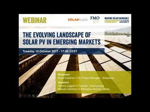 Solarplaza Webinar: The Evolving Landscape of solar PV in Emerging Markets